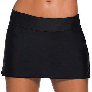 Black Skirted Swim Bikini Bottoms